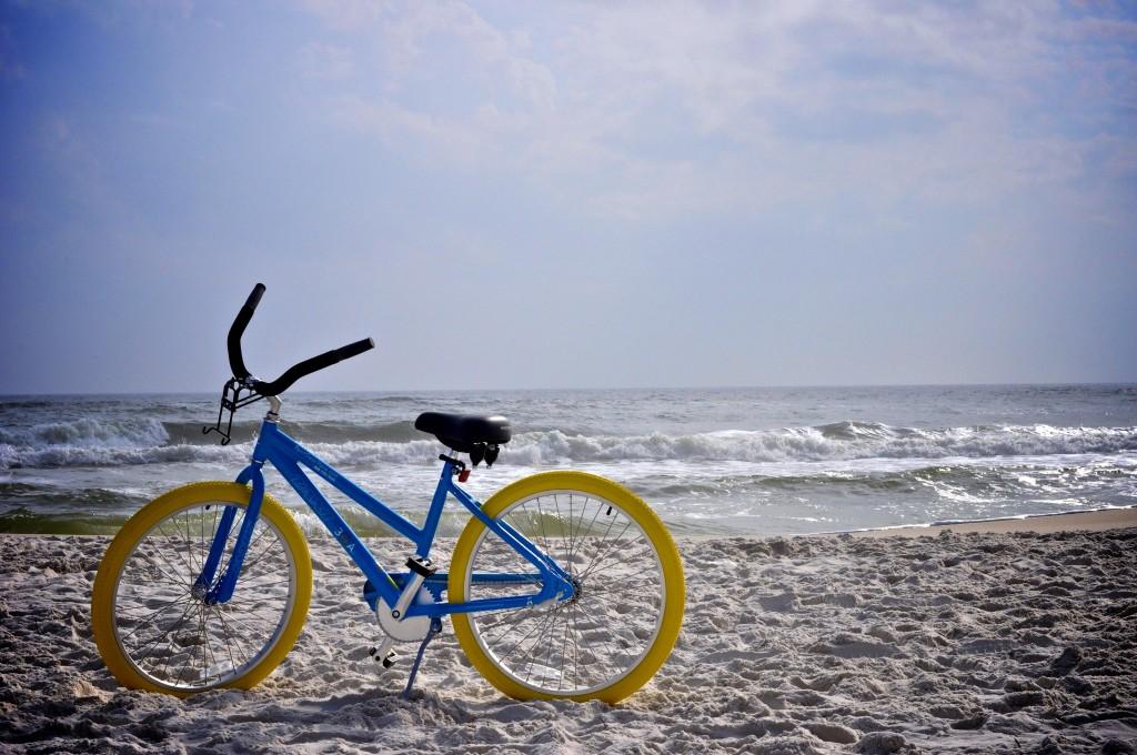 Rent 30A Cruiser Bike Yellow Tires